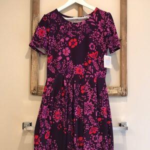 NWT Lularoe Amelia Dress Purple Floral XL